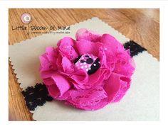 Magneta Minnie Mouse Flower Headband by LittleBloomofMine on Etsy