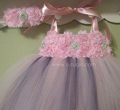 Ballet Pink & Charcoal Dress - PETALS 'A LA MODE style