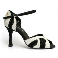 Black and white bombshell Latin Dance Shoes, Ballroom Dance Shoes, Dancing Shoes, Salsa Shoes, Tango Shoes, Salsa Dancing, Low Heels, Kitten Heels, Footwear
