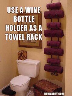 And use a towel rack as a towel rack!