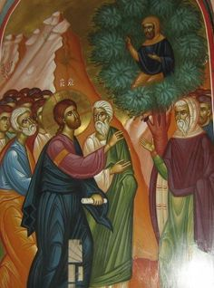 Sunday of Zacchaeus, on January Jesus entered Jericho and was passing… Religious Images, Religious Icons, Christian Images, Christian Art, Zacchaeus, Life Of Christ, Jesus Is Coming, Byzantine Icons, Jesus Lives