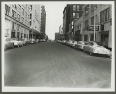 Monroe looking East from Front and Little Tea Shop in 1954