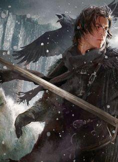 Jon Snow by Michael Komarck - Game of Thrones fan art Jon Snow, Fantasy Kunst, Fantasy Art, Tolkien, Character Inspiration, Character Art, Arte Game Of Thrones, Templer, Snow Art