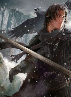 Jon Snow by Michael Komarck - Game of Thrones fan art Character Concept, Character Art, Concept Art, Fantasy Kunst, Fantasy Art, Tolkien, Story Inspiration, Character Inspiration, Jon Snow