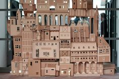 houses, cardboard boxes, paper architecture, recycling, art