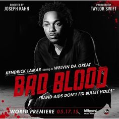 """Kendrick Lamar Contributes Two Guest Verses to Taylor Swift's """"Bad... ❤ liked on Polyvore"""