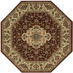Nourison Persian Arts Neolithic Brick 7 ft. 9 in. Octagon Area Rug-695567 at The Home Depot