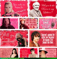 Lord of the Rings valentines...haha!