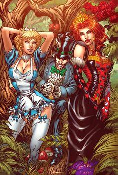Alice, Mad Hatter & Queen of Hearts - Eric Basaldua & Nei Ruffino
