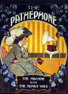 """vinylespassion: """" The Pathephone, 1908. """""""
