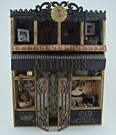Antiques - Altered Configurations Box #diy #crafts