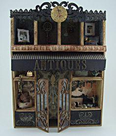 Antiques - Altered Configurations Box #diy #crafts