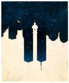NYC. Kind of Ying-Yang // Illustration by Gerard Dubois
