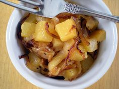 Rutabaga with Caramelized Onions and Apples Recipe on recipe on snack Gourmet Recipes, New Recipes, Whole Food Recipes, Vegetarian Recipes, Cooking Recipes, Healthy Recipes, Recipies, Keto Apple Recipes, Food52 Recipes