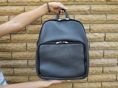 Laptop Backpack Grey Leather Outside Pockets For Woman, Custom Large Camera Backpack Woman, Hipster Everyday Wear Backpack Purse For College Best Laptop Backpack, Camera Backpack, Backpack Purse, Black Leather Backpack, Grey Leather, Cheap Sandals, Women Oxford Shoes, How To Make Shoes, Comfortable Shoes