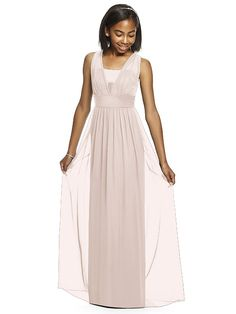 Dessy Collection Junior Bridesmaid JR531 (shown in blush)