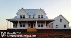 Country Home Plan With Marvelous Porches Country Farmhouse Traditional Photo Gallery Floor Master Suite Bonus Room CAD Available DenOfficeLibraryStudy MediaG. The Plan, How To Plan, Farmhouse Plans, Modern Farmhouse, Farmhouse Style, Farmhouse Office, Farmhouse Windows, Country Farmhouse Exterior, Farmhouse Decor