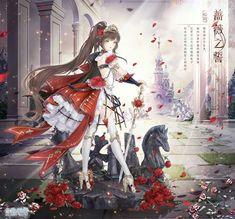 Dream Fantasy, Fantasy Girl, Neko, Really Cool Drawings, Anime Girl Dress, Rose Illustration, Nikki Love, Anime Poses Reference, Beautiful Anime Girl