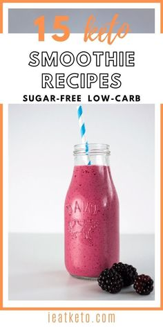 Are you in a hurry and don't have time for a keto breakfast? Think again! Check out these keto and low-carb breakfast smoothies that are delicious and nutritious. Perfect keto snack on the go. #ieatketo Keto Diet Drinks, Keto Smoothie Recipes, Low Carb Smoothies, Keto Drink, Diet Recipes, Quick Keto Breakfast, Keto Breakfast Smoothie, Breakfast Recipes, Keto Milkshake
