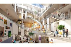 Creative Architecture, School Architecture, Commercial Interior Design, Commercial Interiors, Commercial Complex, School Building, Atrium, Shopping Mall, Mansions