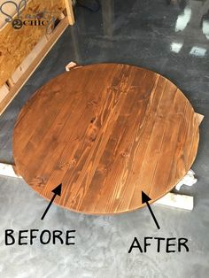 Making wood working plans work for you is easy but it requires proper planning and thought put into it. Woodworking plans can be used by either a novice or an experienced carpenter. Rustic Round Table, Round Farmhouse Table, Circular Dining Table, Wooden Dining Tables, Farm Tables, Wood Pedestal Table Base, Wood Table Bases, Table Legs, Woodworking Furniture Plans