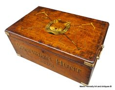 Hunt Box - Painted Antique Mahogany Box - Circa 1890 - Read more on The Website - Thanks - http://www.fennelly.net/Antiques/Newest%20Listings%20-%20Art%20and%20Antique%20Gallery%20Dublin/109%20Hunt%20Box%20-%20Painted%20Antique%20Mahogany%20Box%20-%20Circa%201890.aspx