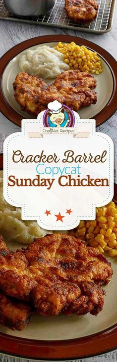 Barrel Sunday Homestyle Chicken Make this delicious chicken recipe any day of the week. Cracker Barrel serves the Sunday Homestyle chicken only on Sunday.Make this delicious chicken recipe any day of the week. Yummy Chicken Recipes, Yum Yum Chicken, Turkey Recipes, Meat Recipes, Cooking Recipes, Casserole Recipes, Chicken Casserole, Zoodle Recipes, Recipies