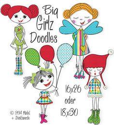 Der Stickbär | Big Girlz | Stickmuster mit Herz