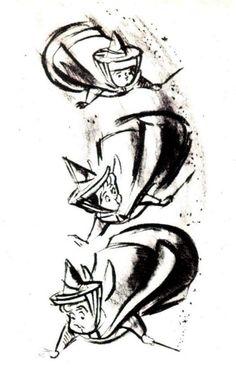Three Good Fairies Concept Art