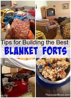 Tips for Building the Best Blanket Fort shared by my boys - The Joys of Boys