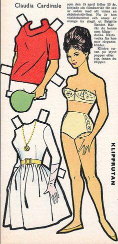 Claudia Cardinale Paper Doll