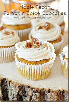 Maple-Pecan Pumpkin Spice Cupcakes