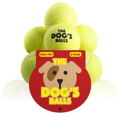 Pet Supplies : The Dog's Balls - Premium Tennis Balls, 6 Pack, Quality, Strong Yellow Dog Toy for Fetch, Puppy Training, Exercise & Play. Fits Chuckit Launcher, Bouncy, No Squeaker, the King Kong of Dog Balls : Amazon.com