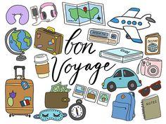 TRAVEL CLIPART clip art travel cute doodles vector clipart airplane clipart doodle clipart hand-drawn clipart and Elements Of Art, Design Elements, Travel Doodles, Travel Clipart, Owl Clip Art, Travel Crafts, Drawing Clipart, Color Vector, Vector Clipart