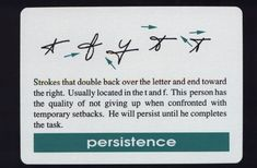 The handwriting trait for persistence. Bart Baggett calls it a success trait. And I have it, heh heh.