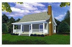 600 sf  Small House Plans
