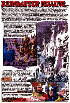 """Chilling Adventures in Sorcery #5, February 1974. Archie Comics. """"Barometer Falling..."""" Art and story by Gray Morrow."""
