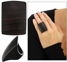 Ethical Ebony Square Ring
