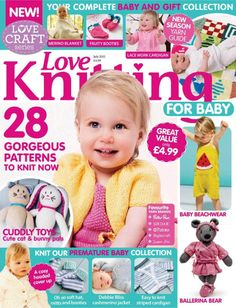 All the issues of Love Knitting for Baby on our Newsstand. Get the subscription to Love Knitting for Baby and get your Digital Magazine on your device. Baby Knitting Patterns, Baby Cardigan Knitting Pattern Free, Love Knitting, Knitting Books, Knitting For Kids, Baby Patterns, Knitting Projects, Knitting Gauge, Knitting Yarn