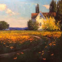 """Romona Youngquist, """"Spring is Finally Here"""", 40"""" x 40"""" Oil on Canvas"""