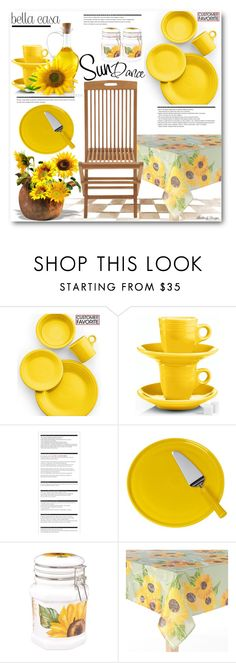 """""""Sun Dance Flower"""" by beebeely-look ❤ liked on Polyvore featuring interior, interiors, interior design, home, home decor, interior decorating, Fiesta, Arche, Spigarelli Ceramiche and Harvest"""