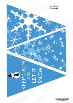Keep Calm and Let It Snow  Snowman & Snowflakes by Ainjewelz