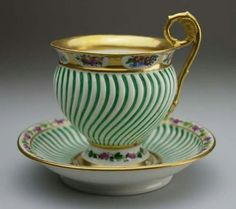 A beautiful tea cup and saucer.... I wonder where it was made...