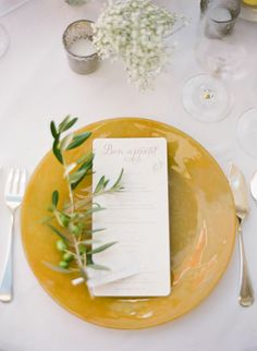 REVEL: Mustard Place Setting