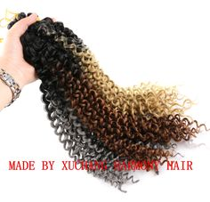 Made by XUCHANG HARMONY HAIR. Wholesale price is USD 2.45/each bag if more than 100 pieces. Synthetic Hair Extensions, Braid In Hair Extensions, Synthetic Wigs, Marley Braids, Jumbo Braids, Ombre Color, Faux Locs, Hair Weft, Ponytail