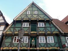 This building is supposed to be the oldest dated house in Celle. The mannequin indicates that some parts of the building are used for a fashion shop now. Places Around The World, Around The Worlds, Lower Saxony, House Built, Germany Travel, Austria, Castles, Switzerland, Beautiful Places