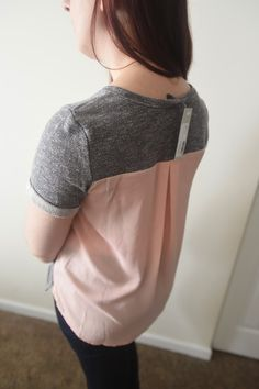 stitch fix february 2015 review // market and spruce xander short sleeve woven back sweatshirt