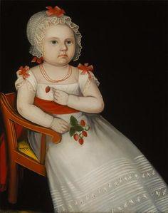 Ammi Phillips, Mary Elizabeth Smith, 1827 (via).  http://aleyma.tumblr.com