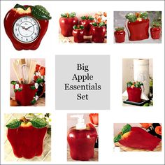 103 Best Apple Decorations For Kitchens Walls Tiles Canisters And