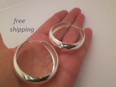 Hey, I found this really awesome Etsy listing at https://www.etsy.com/listing/265943851/large-wide-silver-hoop-earrings-925